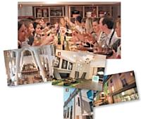 1 - Un atelier cuisine organisé par L'Atelier des Chefs. 2 et 3 - Le nouvel hôtel Mercure de Poitiers (Vienne). 4 et 5 - L'hôtel Holiday Inn Opéra Grands Boulevard (Paris).