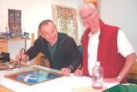 Patrick Autissier (à gauche) avec l'un de ses stagiaires Les journées portes ouvertes permettent de susciter des vocations