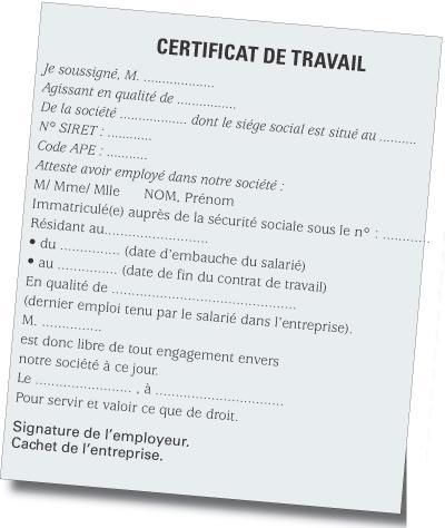 4 documents remettre un salari quittant votre entreprise for Modele certificat de ramonage gratuit