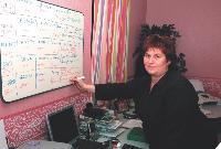 Sylvie Schoumarcher s'occupe des factures, des devis, de la comptabilité en collaboration avec le comptable.