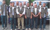 Thierry Fromentin (1er rang, pantalon beige) veille à la sécurité routière de ses salariés.