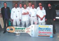 Christian Guémart et son équipe de peintres oeuvrent pour les particuliers.