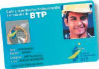 Chaque salarié du BTP aura sa carte professionnelle avec ses nom, prénom et photo.