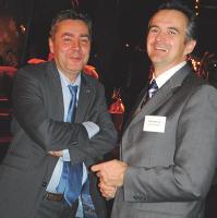 Yves Jouffrey (Natixis) et Eric Groslier (Caisse d'Epargne)