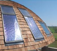Energies vertes La rotation et les panneaux solaires permettent un rendement maximum: les panneaux restant perpendiculaires aux rayons du soleil.