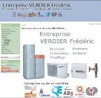Sur son site internet, Frédéric Verdier fait valoir ses qualifications dès la page d'accueil.