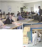 L'entreprise Knauf, spécialisée dans l'isolation, dispose d_un centre de formation à Saint-Soupplets (Seine-et-Marne). Des formations sur chantier permettent aux artisans de maîtriser les nouveaux produits.