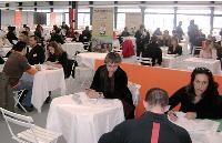 Pera, comme 26 autres entreprises du BTP, a participé à une session de «job dating» sur le salon professionnel Aquibat.