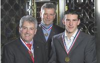 De gauche à droite, Didier Duchêne, son frère Alain et son fils Tanguy, de la métallerie CMD2 ont rédigé une charte familiale pour prévenir les conflits.