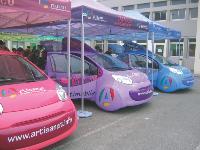 Durant un mois, les Artimobiles, voitures high-tech dédiées à la promotion de l'artisanat, vont sillonner huit départements.