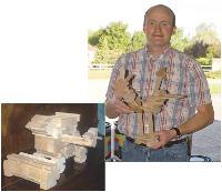 Dernier coup d'éclat de Thomas Blanchard, menuisier: la conception et la commercialisation d'un jeu pour enfant, baptisé Truc en bois.