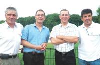 Ci-dessus, de gauche à droite: Bruno Renouard, Christophe Mainguet, Hugues Vanel et Thierry Danjou.
