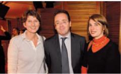 Tatiana Tauziet (GDF Suez), Christophe Poissonnier (Ciel) et Elise Coulange (GDF Suez)