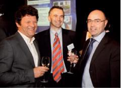 Serge Eberhardt (Planète micro-entreprises), Eric Groslier et Gil Brodin (Réseau Caisse d'Epargne - BPCE)