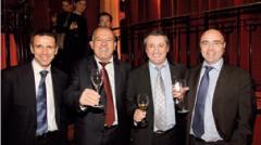 A Bruno Broussard (Réseau Caisse d'Epargne - BPCE), Jean-Pierre Bechler (chambre de métiers d'Alsace), Christian Vabret (chambre de métiers du Cantal) et Gil Brodin (Réseau Caisse d'Epargne - BPCE)
