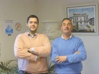 François Briolon (à droite) et Emmanuel Péan de la SARL Théodore, et le LamVidéo, concept qu'ils développent avec un partenaire trouvé sur le Web.