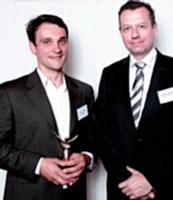 Marc Lagouarre a reçu le 1er prix des mains de Florent Lamoureux.