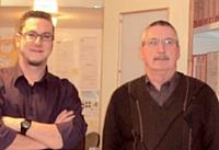 Michel Joulain (à droite) a transmis son savoir-faire durant six mois, à titre bénévole, à son successeur Guillaume Gicqueau.