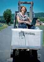En fabriquant des dalles «vertes», Sylviane Pitschi a fait dudéveloppement durable le fer de lance de son entreprise.