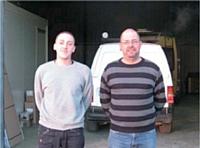« Ce que je retiens, c'est la qualité de son travail, pas son handicap », insiste Didier Mercier (à droite) concernant son employé atteint d'un handicap visuel.