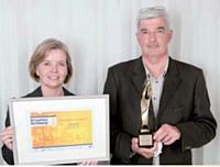 Pascal Ligier a remporté le trophée Association, remis par Joséphine Ray (Ciel).