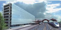La communauté urbaine de Strasbourg a participé au financement des trauaux de la toute nouvelle gare pour accueillir le TGV Est Européen.