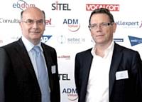 Eric Lestanguet (à gauche) GDF Suez et Nicolas Diquéro (à droite) - Acemis
