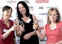 De gauche à droite, Guylène Tarazzi, Marie-Christine Cambron et Christine Charles - Microsoft France