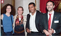 Isabelle Rousseau (Orange Business Services), Gersende Deroin Tlievenin (Orange B. S.), Jean-Charles Correa (Deafi), Eric Farro (Orange B.S.).