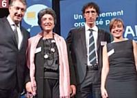 Eric Dadian (AFRC), Béatrice Felder (Orange Business Services), Morald Chibout (Autolib), Chantal Teixeira (Autolib).