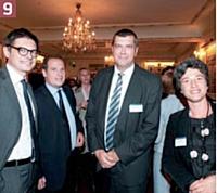 Eric Falque (BearingPoint), Christian De Vaux (Crédit Agricole), Michel Goutorbe (Crédit Agricole), Béatrice Felder (Orange Business Services).