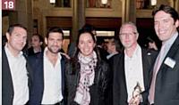 Eric Groc (SFR), Laurent Uberti (Acticall), Nathalie Pineau (SFR), Jean-Louis Thévenard (Arvato), Philippe Riveron (Learning CRM).