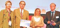 Cathérine Pierce (GN Netcom-Jabra), Jean-Philippe Brinet (CIC Société Bordelaise), Alain Denis (NR Communication, membre du Jury).
