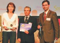 Patricia Le Dren (System U Ouest), Christian Brisou (System U Ouest), Olivier Savouret (Sopra Group).