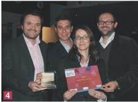 Thierry Laurens, Frédéric Fournier, Nathalie Bousseau et Fabien Scemama (Optimus).