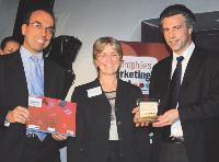 Denis Le Maout (Veolia Eau IDF-Centre), Francine Bonnard (SupMédiaCom) et Thierry Perney (Veolia Eau IDF-Centre).
