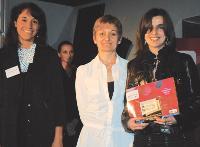 Emmanuelle Jasson (LaSer), Annie Gaume et Laure Sanchez (TNT Express France).