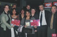 L'équipe de Veolia Eau. EQ Photo de famille des lauréats et des partenaires.