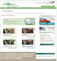 En s'identifiant sur Amaguiz.com, le client devient prioritaire dans la gestion des appels.