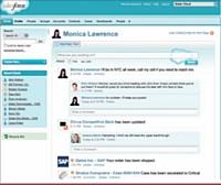 Salesforce vient de créer Chatter, une plateforme qui permet à des collaborateurs d'échanger en interne es informations sur leurs activités.