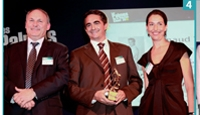 4 Philippe Monloubou (EDF) , Arnaud Vialard (CDiscount) et Stéfanie Moge-Masson (Relation Client Magazine).