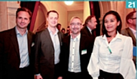 21 Laurent Jacquet (SFR Business Team) , Thomas Decant (SFR Business Team) Martial Le Hiress (Ikea) , et Majda Vincent (Ikea)