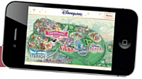 L'appli iPhone propose un plan interactif du parc d'attraction.