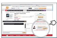 Un téléconseiller guide le client dans son choix et le renseigne sur les caractéristiques des produits.