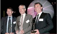 De gauche à droite: Till Conrad (Mercedes Benz France), Roger Bel (Maif) et Gérard Moriniaux (Audi).