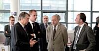 Laurent Fabius, député de Seine-Maritime était présent le jour de l'inauguration.
