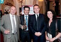 Philippe Monloubou, Marc Aldebert, Sébastien Jumel et Elisabeth Casterman (EDF).