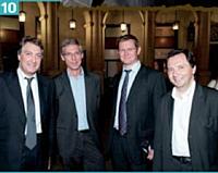 Eric Dadian (AFRC) , Jean-Guillaume Boniface (Saur), Philippe Deboës (Réunica) et Stéphane Martin (Bouygues Telecom).