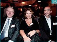 Harry Salamon (Mercedes-Benz), Claire Morel (Editialis - Relation Client Magazine) et Fabrice Frossard (Editialis).