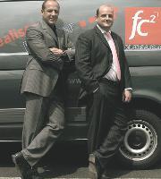 Les deux associés, Franck Chaud (à gauche) et Marc Fischer (à droite) co-financent l'achat de patchs anti-tabac pour leurs salariés souhaitant arrêter de fumer.